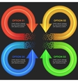 Infographics design template circular arrows vector