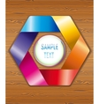 Wood texture with colorful ribbons vector