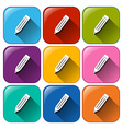 Buttons with pencils vector