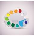 Wooden art palette color vector