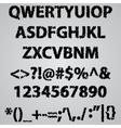 Alphabet scribble vector