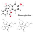 Phenolphthalein molecule - structural formula vector