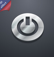 Power switch on turn on icon symbol 3d style vector