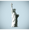 Statue of liberty black shadows silhouette vector