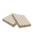 Two wood pallets on a white background vector