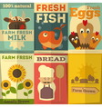 Fresh farm food posters vector