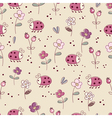 Seamless pattern with bugs and flowers vector