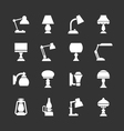 Set icons of lamps vector
