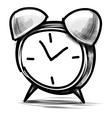 Alarm clock cartoon sketch vector