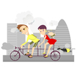 Healthy life-style family 2 vector