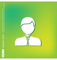 A male avatar picture a man icon image guy in tie vector