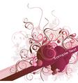 Floral vine banner vector