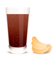 Cola and potato chips vector