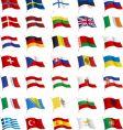 All european flags vector