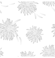 Asters neutral seamless pattern on neutral vector