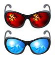 Realistic sunglasses vector