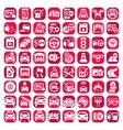 Big color auto icons set vector