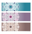 Set of patterned banner vector
