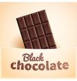 Bar of black chocolate vector