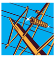 Power lines vector