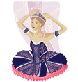 Ballerina black vector