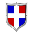 Dominican republic flag button vector