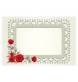 Roses vintage square shape frame and border vector