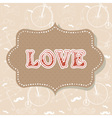 Romantic vintage valentine invitation postcard vector