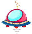 Isolated flying ufo vector