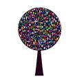 World people tree vector
