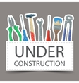 Tools drawing - under construction vector