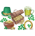 Saint patricks day set vector