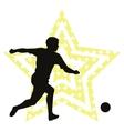 Soccer star concept vector