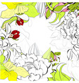 Romantic summer background vector