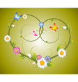 Spring floral heart vector