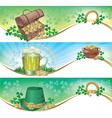 St patricks day horizontal banners vector