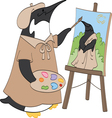 Penguin painter vector