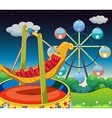 A carnival at the hill vector