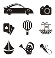 Hobby and leisure icons vector