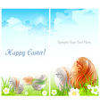 Happy easter card 10 v vector