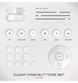 Set of light media control buttons vector