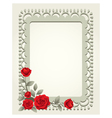 Roses vintage square shape frame and border vector