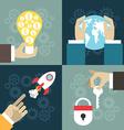 Set of flat design business illuatration startup vector