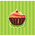 Cute retro cupcake vector