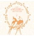 Swallows invitation vector