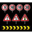 Traffic speed signs vector