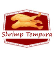 Shrimp tempura vector