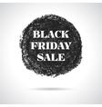 Black friday sale round badge vector