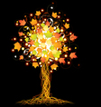 Artistic autumn tree vector