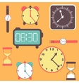 Background with clocks and watches vector